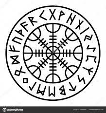 Aegishjalmur Pagan Symbol Stock Vektor Ttd1387 166806032