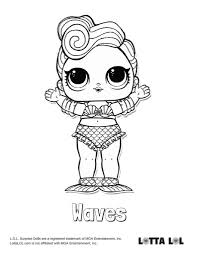 Waves Coloring Page Lotta Lol Lol Surprise Series 3 Confetti Pop