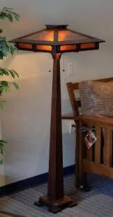 oak river arc mica shade dark rust floor lamp design ideas