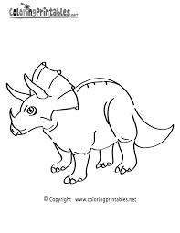 Small Picture Triceratops Coloring Page A Free Dinosaur Coloring Printable