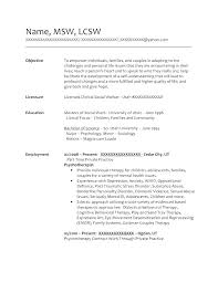 Resume Templates For Unique Social Worker Resume Sample Download Social Worker Resume Samples
