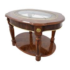 popular small circle coffee tables intended for 65 off vintage small round