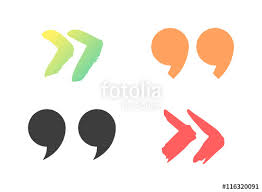 Quote Sign Amazing Quote Sign Icon Text Concept Message Bubble Dialog Symbol Vector