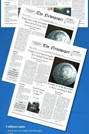Free Front Page Newspaper Template Old Style Newspaper Template Indesign Modern Magazine A4 Free