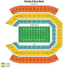 Citrus Bowl Seating Chart Prototypal Seating Chart For Florida Citrus Bowl Stadium
