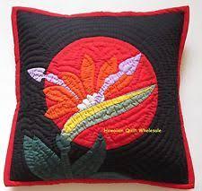 Hawaiian Quilt Pillow   eBay & 2 Hawaiian quilt handmade cushions hand quilted/applique throw pillow covers  BOP Adamdwight.com
