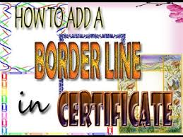 How To Make A Certificate In Word 2010 How To Add Border Line In A Certificate Using Microsoft Word 2010