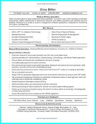Coding Specialist Sample Resume Beauteous Medical Billing Resume Datainfo