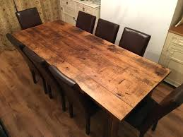 reclaimed pine dining table rustic 20th c reclaimed pine trestle round dining table suzette reclaimed pine