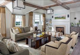 coastal decor lighting. Transitional Family Room Design With Subtle Coastal Decor. Reclaimed Wooden Beams Are Decor Lighting L