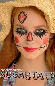 scarecrow makeup. 18 temporary tattoos that are perfect for halloween scarecrow makeup s
