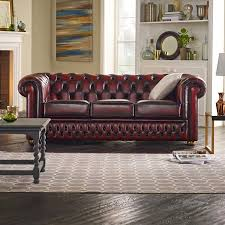 CHESTERFIELD CLASSIC 3 SEATER SOFA ANTIQUE OLIVE-C-CLAS-3-AOLIVE