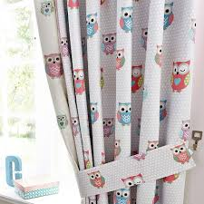 Owl Curtains For Bedroom Kids Blackout Curtains