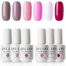 Gellen Gel Nail Polish 6 Colors Set Soak Off Uv Gel Home
