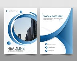Annual Report Templates Free Download Blue Round Modern Annual Report Template Vector Free Download