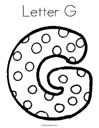 Small Picture Letter G Coloring Page Twisty Noodle