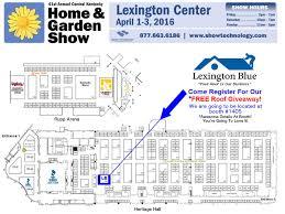 map of the floor plan at the lexington center home and garden show lexington ky april