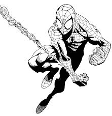 Disegni Uomo Ragno Da Colorare Gratis Con Disegno Di Spiderman L