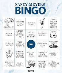 Nancy Meyers The Nancy Meyers Lifestyle Bingo Card Eater