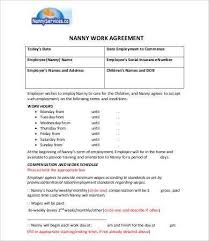 Nanny Contract Template] 10 Sample Nanny Contract Templates Free ...
