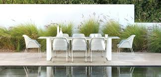 white outdoor dining settings wicker patio chairs