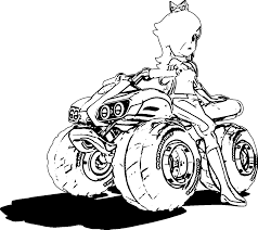 Mario Kart Coloring Pages Printable Coloring Page For Kids