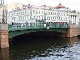 Цветные мосты в Санкт Петербурге Зеленый Синий Красный и Желтый  Зелёный мост