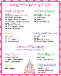 Wdw Height Chart How To Know Which Disney World Attractions Your Child Can