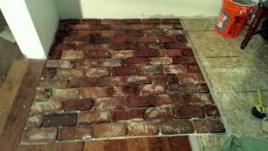 brick veneer flooring. Install Brick Veneer With Thinset Flooring Vintage