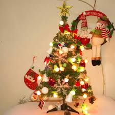 Mini Christmas Tree With Lights And Decorations Details About 2ft Tabletop Artificial Small Mini Christmas Tree Xmas New Year Home Decor