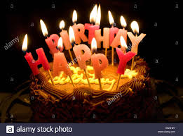 chocolate birthday cake with candles.  Chocolate Lighted Candles Saying Happy Birthday On A Chocolate Cake  Stock Image For Chocolate Cake With Candles T
