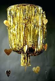 awesome gold fringe chandelier for chandeliersgold fringe chandelier paper 9 plans best metallic foil