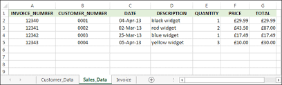 Microsoft Excel Tutorials A Business Invoice With Vlookup Part One