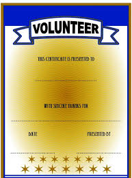 Volunteer Certificate Template.jpg – The Best Template Collection