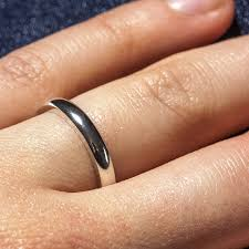 sterling silver engraved 3mm d shape ring by the jewellery sterling silver engraved 3mm d shape ring