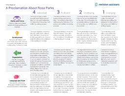 a proclamation about rosa parks guides turnitin com rubric