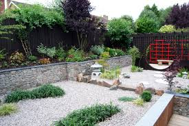Outdoor Living:Cozy Asian Style Garden Design For Backyard Idea Best  Japanese Design Decor With
