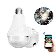 2 Way Light Bulb 2 In 1 Panoramic 1080p 200w Wifi Camera Light Bulb Cameara Night Vision Two Way Audio