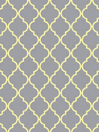 Quatrefoil Wallpaper for iPhone & iPad {Light Gray with Yellow, Aqua, Pink,  or White} Each color is available for iPhone and iPad.
