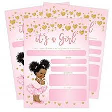 Do It Yourself Baby Shower Invitation Templates Baby Shower Invitations African American Baby Shower