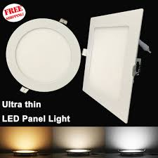 Led Panel Light Buyer Russian Buyers A Dedicated Channel 4pcs Ultra Thin Led Panel Downlight 3w 6w 9w 12w15w 18w Round Square Recessed Light Ac85 265v In Downlights From