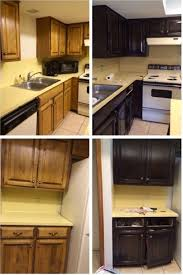 before and after kitchen cabinets painted black