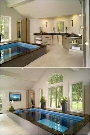 indoor pool bar. An Above Ground Indoor Pool With Accompanying Spa Bar