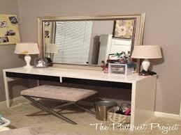 Bedroom Vanity Ikea New Ikea Hack Desk Into Vanity The Pinterest Project