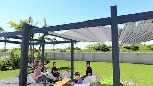 pergola retractable waterproof canopy stagger shade cloth wave shades diy decorating ideas 4