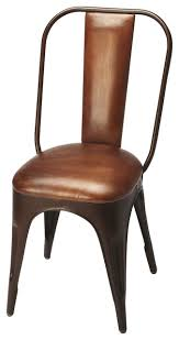 leather side chairs. Riggins Iron \u0026 Leather Side Chair - Medium Brown Chairs