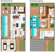 Já o quarto do casal possui uma suíte e closet amplos e, para fechar, uma varanda com vista para piscina. 25 Plantas De Casas Com Piscina Ideias Incriveis Para A Area De Lazer