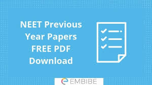 Download Paper Neet Previous Year Papers Download Official Answer Key