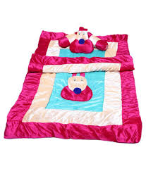 elegance multicolour cat baby bedding set of 5 pc