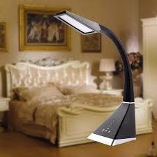 led dimmable desk lamp flexible gooseneck eye caring table lamp 8w touch sensitive led reading bedroom lamps 3 color modes 5 grade brightness